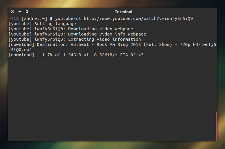 Download Youtube videos using Terminal/Command Line in Linux