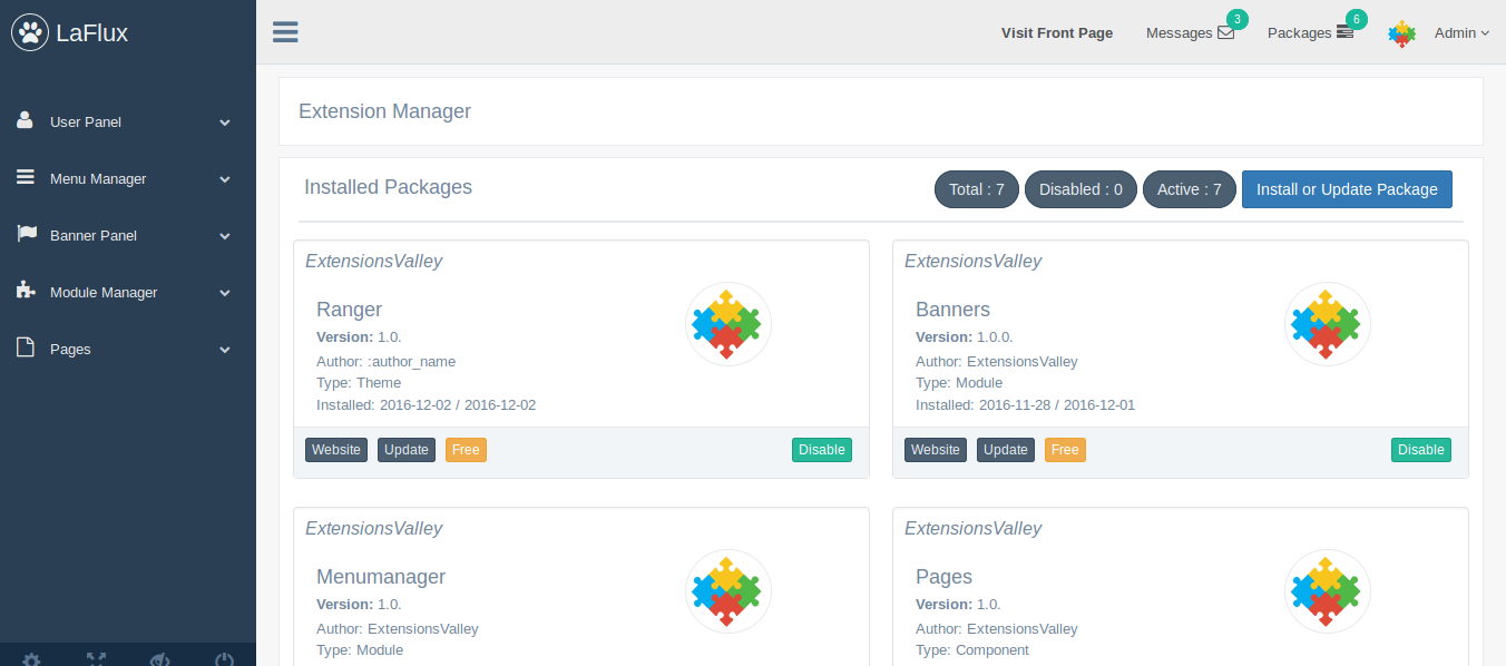 Laravel Admin Dashboard and Laravel Admin Template Screen Shot 5