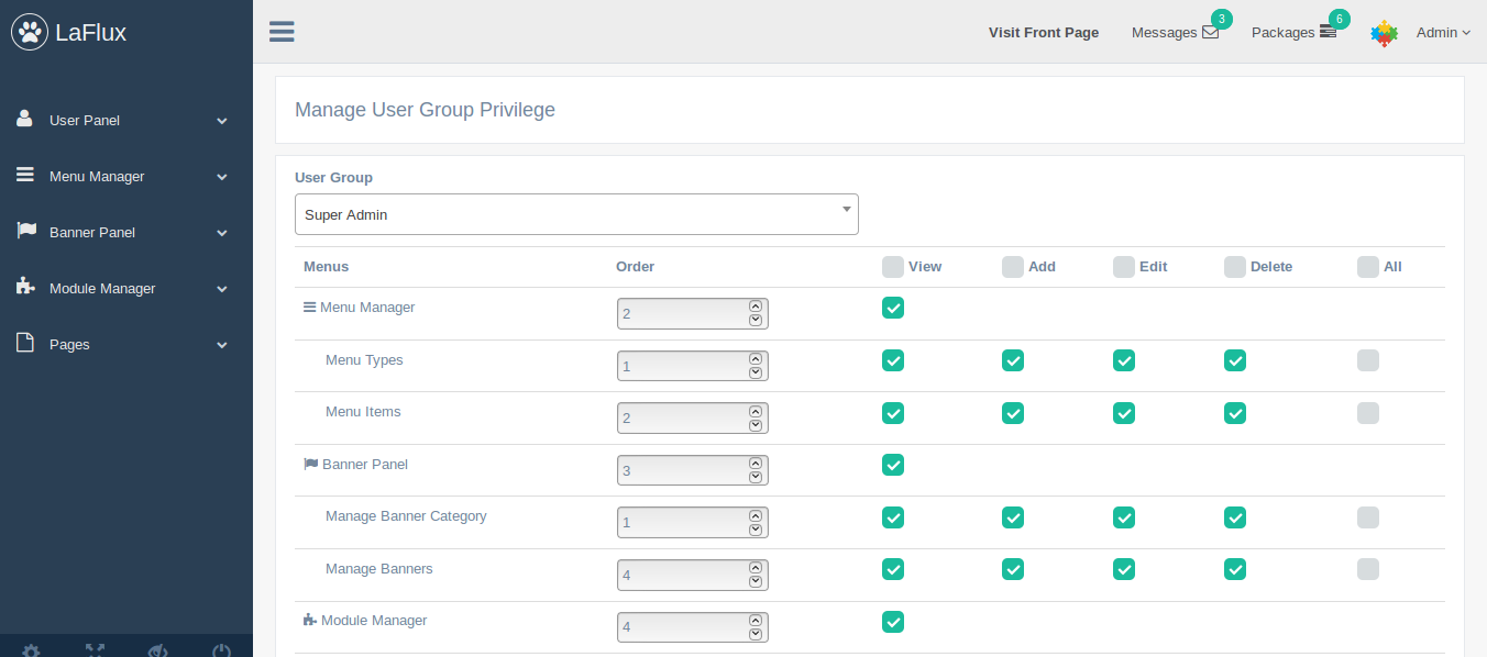 Laravel Admin Dashboard and Laravel Admin Template Screen Shot 6