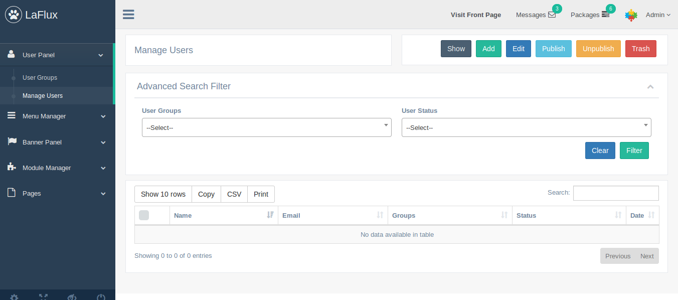 Laravel Admin Dashboard and Laravel Admin Template Screen Shot 7